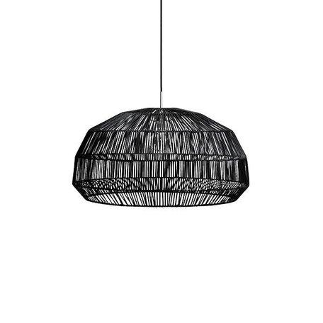 Zwart - rotan hanglamp - Nama 1