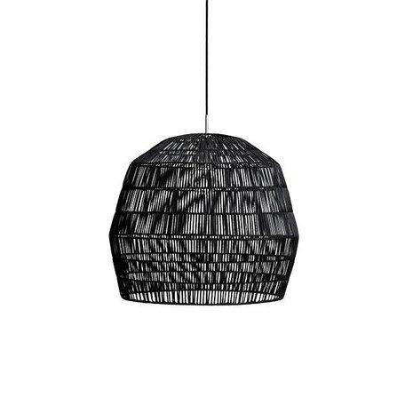 Rotan hanglamp - Nama 2 - zwart