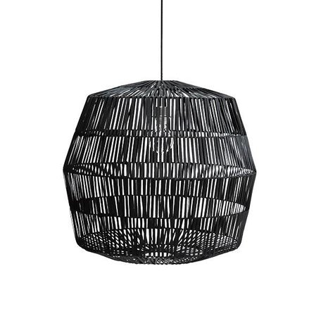 Hanglamp Nama 4 - zwart - rotan