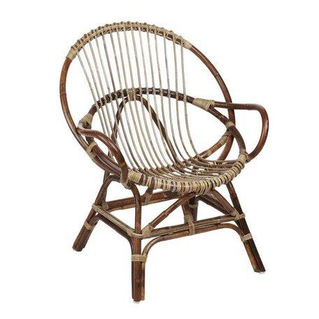 Rattan chair - Natural - Round