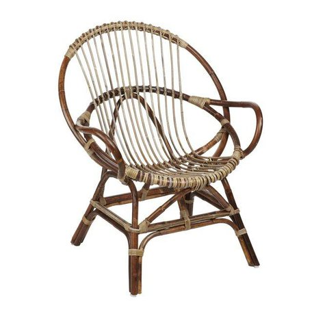 Rotan stoel - Naturel - Rond