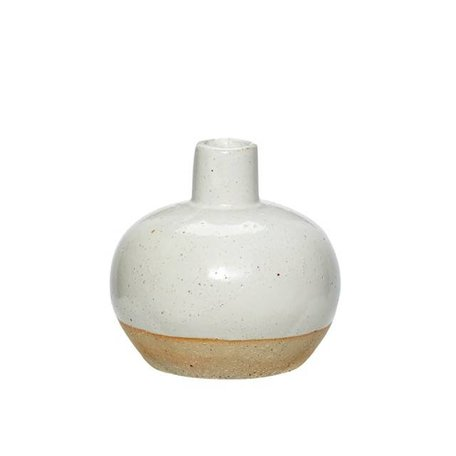 Dipped vase - White natural