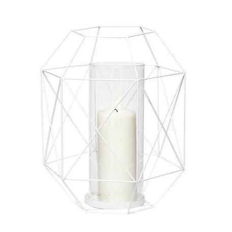 Wire lantern - White