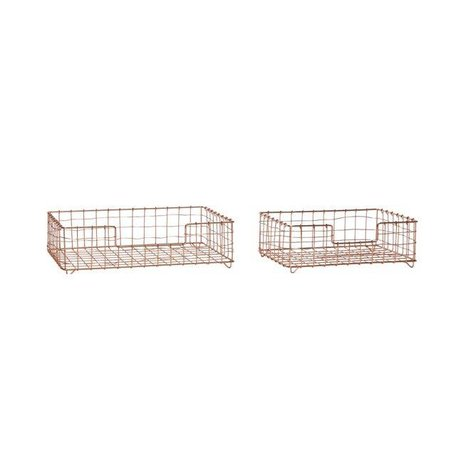 Industrial basket - Copper - 2 pieces