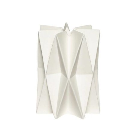 Geometric candlestick - White