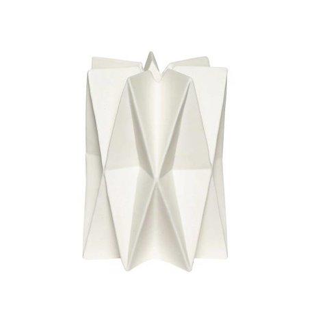 Geometrische kandelaar - Wit