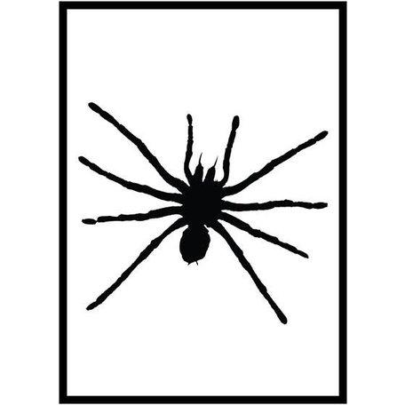 Poster zwart spin