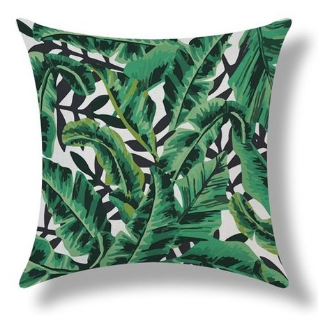 Botanic cushion Tropical Banana Leaf Green