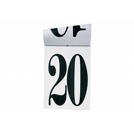 Perpetual white black calendar Calendone