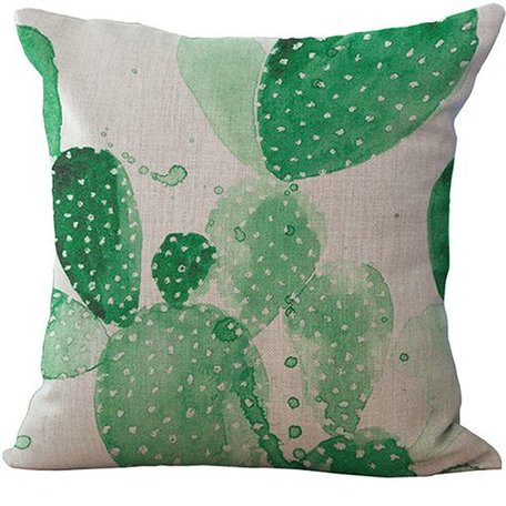 Cushion cover Cactus green