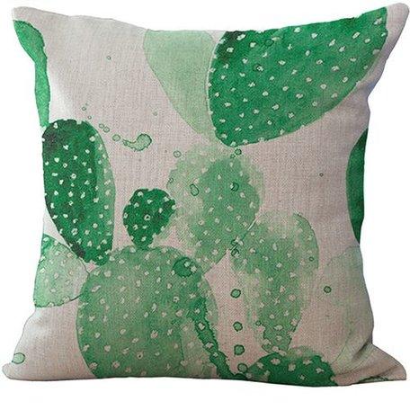 Kussenhoes cactus groen