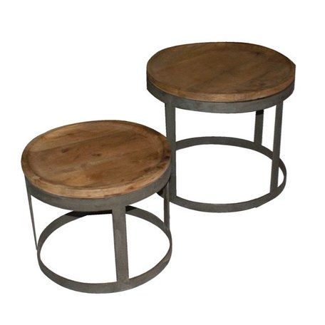 Set of 2 industrial side tables Tessel