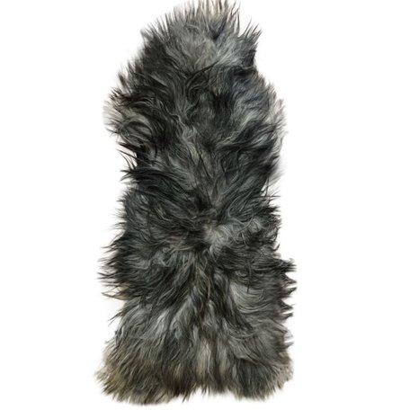 Icelandic sheepskin anthracite grey