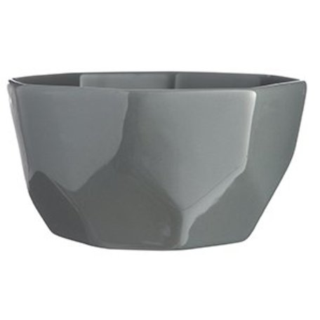 Geometric grey bowl