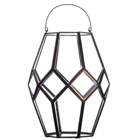 Lantern glass in copper PCH10087