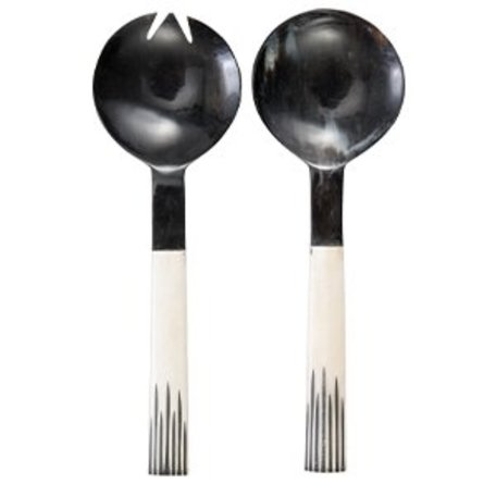 Salad cutlery black / white
