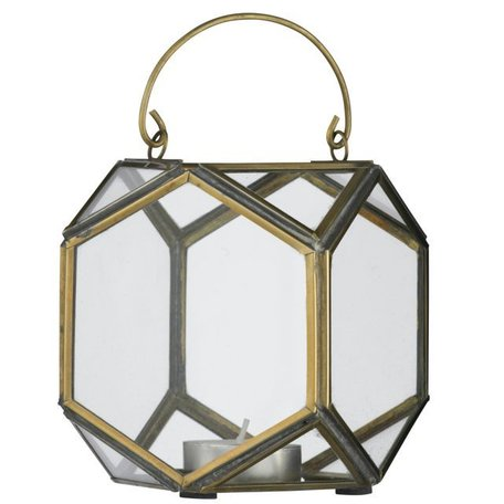 Lantern glass in brass PCH11262B