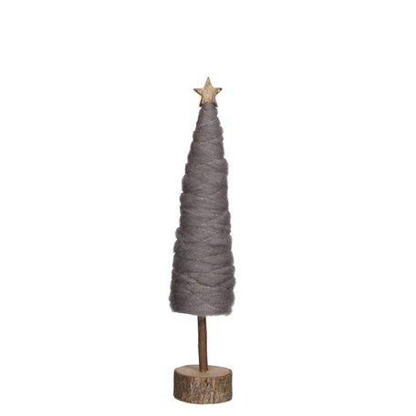 Grey tree wool H 32,5 cm