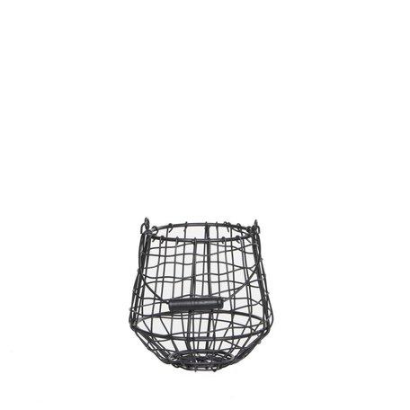 Iron basket Finley grey