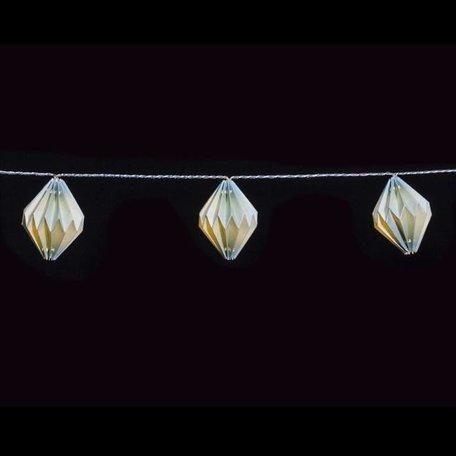 Light cord paper diamond lights green