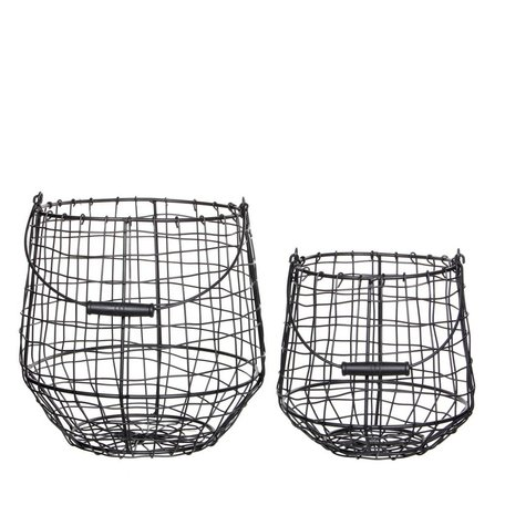 Set of 2 iron baskets Finley