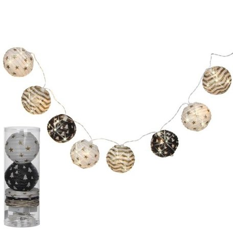 Pendulum with 8 Chinese lanterns  - Black, white, gold