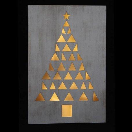 Whitewash frame kerstboom met lichtje