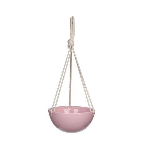 Hanging pot pink 20,5 cm