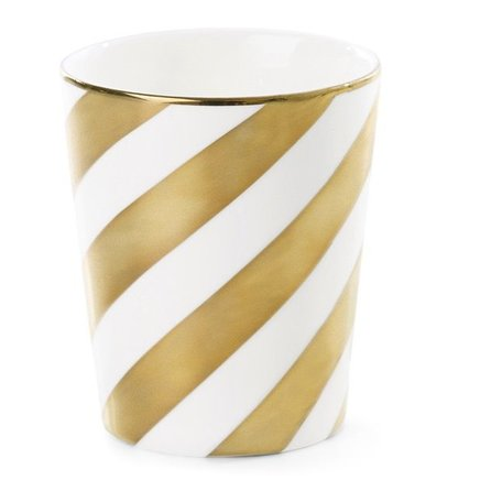 Cup diagonal stripe gold