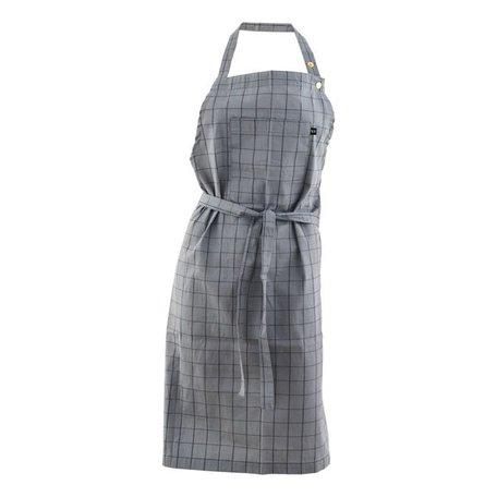 Keukenschort Grid grijs