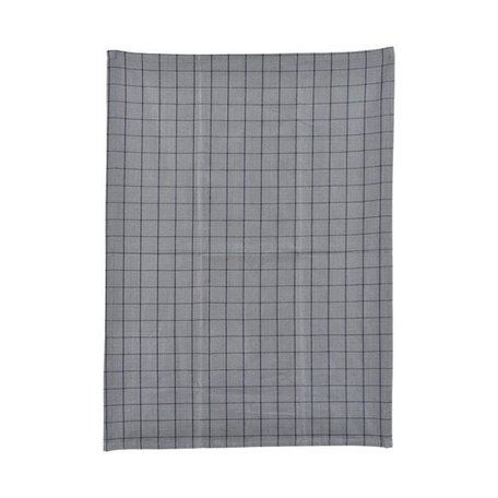 Theedoek Grid grijs