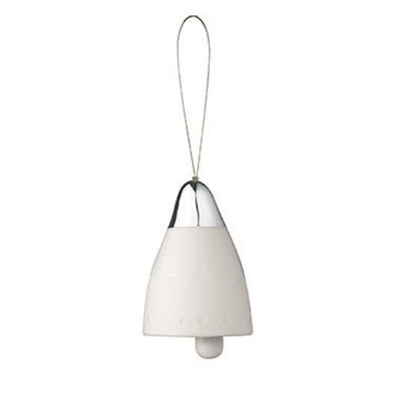 White porcelain Christmas bell Little Stars