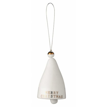 White porcelain Christmas bell Merry Christmas