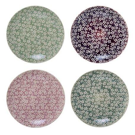 Flowers plate Seeke -  pink