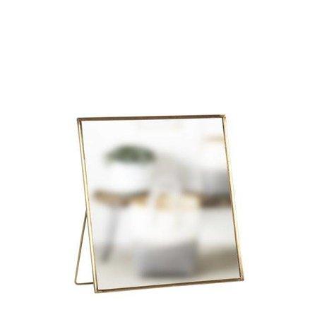 Tafelspiegel met voet - Messing