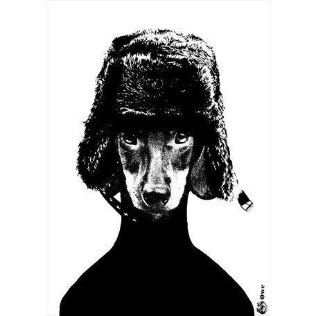 A4 zwartwit poster - Owe