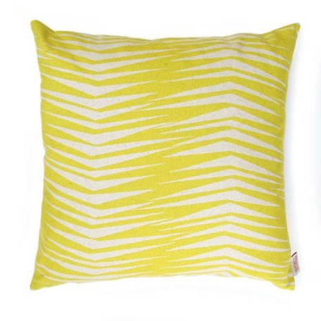 Cushion cover Fronds raffia yellow