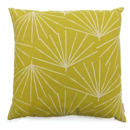 Cushion cover Palmetto pine nut - mustard yellow
