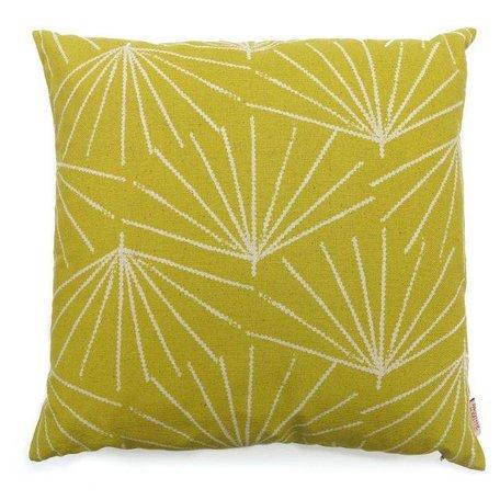 Kussenhoes Palmetto pine nut - mosterd geel