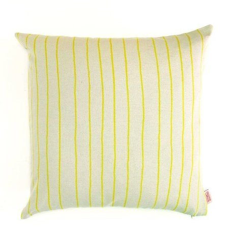 Cushion cover Simple - stripe lemon