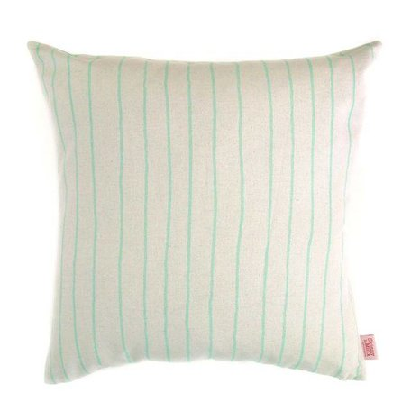Kussenhoes Simple stripe - mint