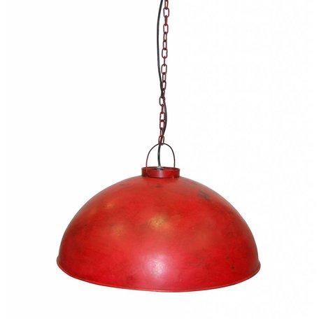 Industriële hanglamp - rood