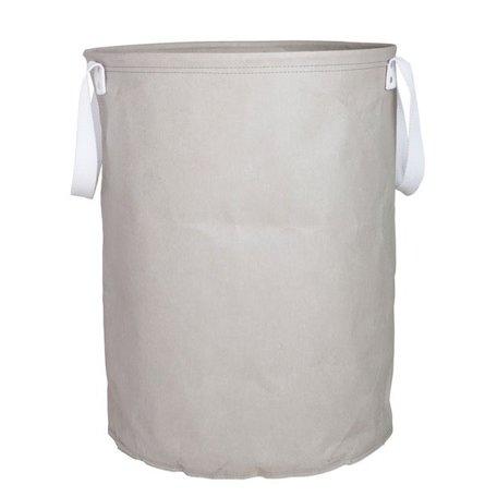 Paper laundry bag grey