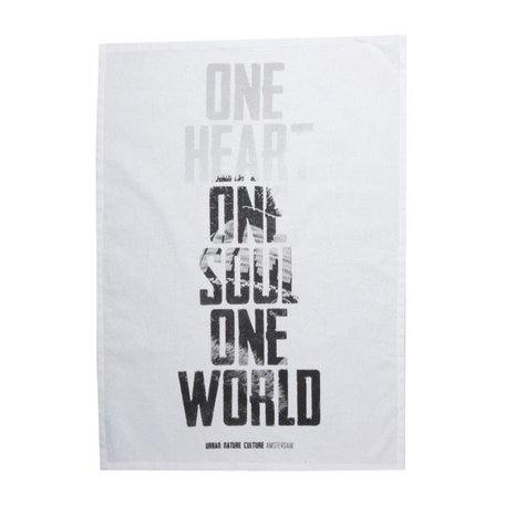 Set of 2 tea towels One world