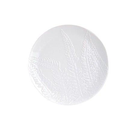White breakfast plate leaf Ø 17 cm