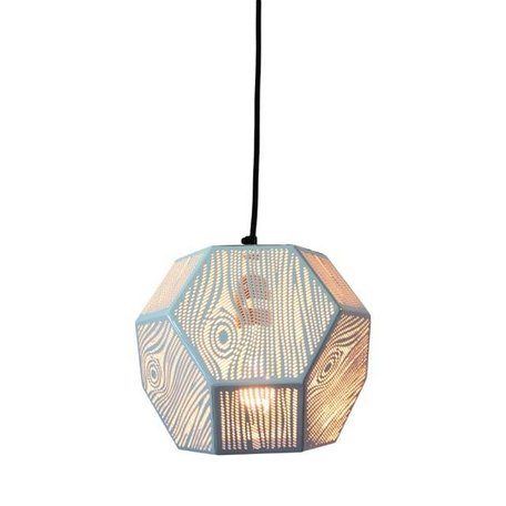 Geperforeerde hanglamp Edgy - wit
