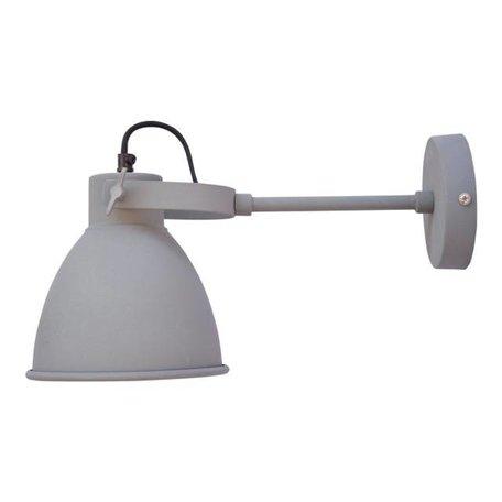 Industriële wandlamp Dock - vintage grijs