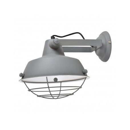 Industrial wall lamp prison - grey