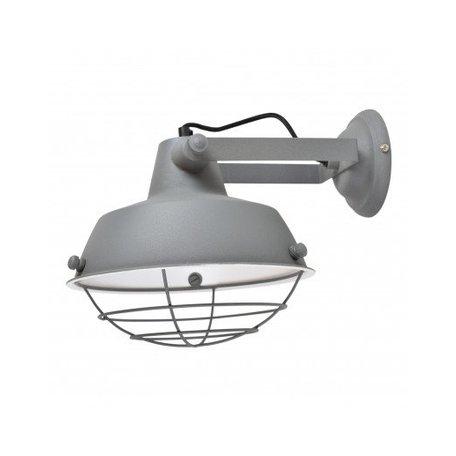 Industriële wandlamp prison - grijs