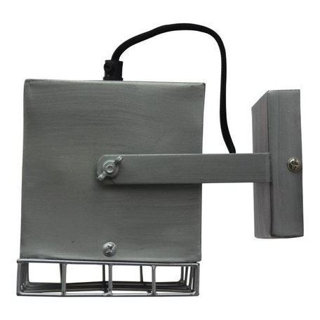 Wall light Cube - antique zinc